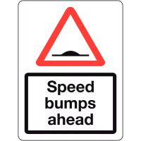 Weather-Resistant Traffic Signs - Speed Bumps Ahead