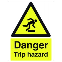 Danger Trip Hazard Signs