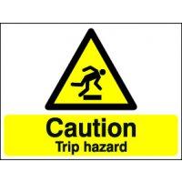 Caution Trip Hazard Stanchion Signs