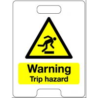 Warning Trip Hazard Temporary Floor Stand