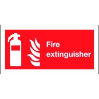 Fire Extinguisher (Symbol & Flames) Polycarbonate Signs