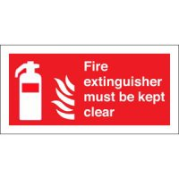 Fire Extinguisher Must Be Kept Clear Signs
