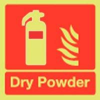 Dry Powder Extinguisher Photoluminescent Signs