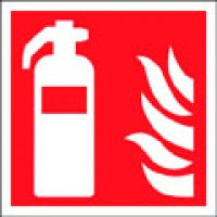 Essential Fire Safety Signs With Fire Extinguisher And Flame Symbols