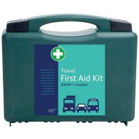 British Standard-Compliant First Aid Kit in Handy Travel Case