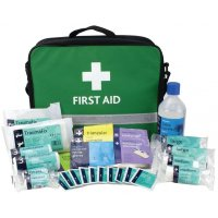 Lightweight & easy to carry BS Compliant First Aid Grab Bag & Kit