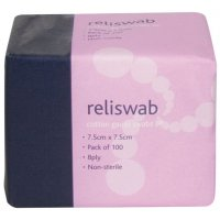Cotton gauze swabs for essential cleaning and dressing