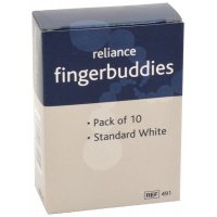 Blue/white finger buddies bandages