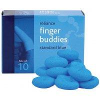 Blue/white finger buddies bandages