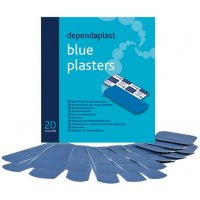 Water Resistant Blue Catering Plasters In Assorted Sizes
