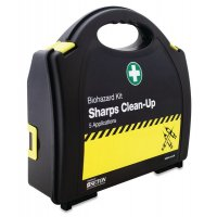 Sharps disposal kit in carry case