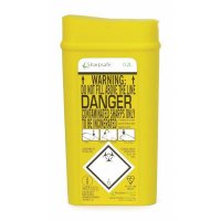 Yellow Sharps Bin with Universal Safety Markings