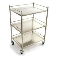 Easy Clean Surgical Instrument Steel Trolley