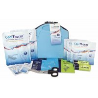 CoolTherm Fully Stocked Professional First Aid Kit for Treating Burns