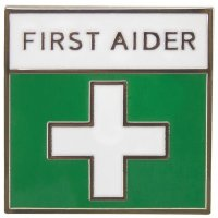 Enamel First Aider Badge with Symbol