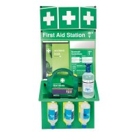 Combined Emergency Eyewash And First Aid Kit Station