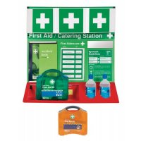 Fully Stocked First Aid Station for Catering Environments
