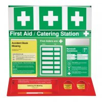 Unstocked 3D First Aid Catering Stations