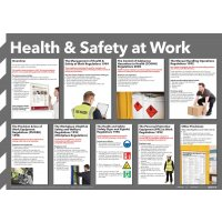 Illustrated 'Health & Safety at Work' Guidance Poster