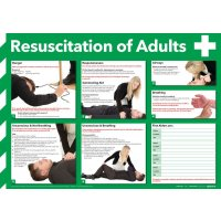 First aid adult resuscitation poster