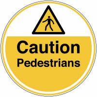 Caution Pedestrians Anti-Slip Floor Signs