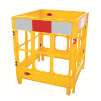 JSP 4-gate foldable polypropylene work barriers