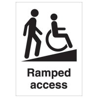 Ramped Access Signs