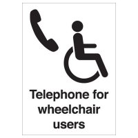 Telephone For Wheelchair Users Signs
