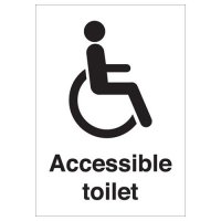 Plastic And Vinyl Accessible Toilet Signs With Wheelchair Symbols