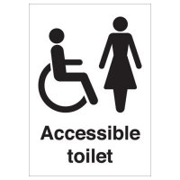 Accessible Toilet (Disabled & Female) Signs