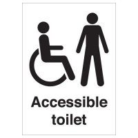 Accessible Toilet (Disabled & Male) Signs
