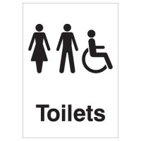 Toilets (Unisex & Wheelchair Symbol) Signs