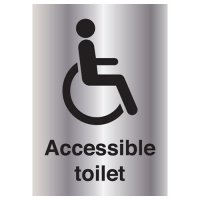 High Quality 'Accessible Toilet' Metal Look Signs