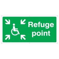 Disabled refuge point banner sign