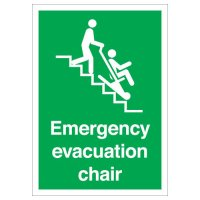 Emergency Evacuation Chair Signs
