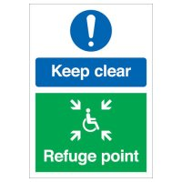 Keep Clear & Refuge Point - Multi-Message Signs