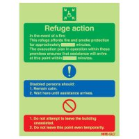 Glow-in-the-Dark Disabled Emergency Refuge Point Sign