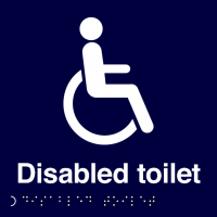 Self-Adhesive Disabled Toilet Braille Sign