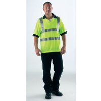 Cool, Lightweight Polyester High Visibility Polo Shirt