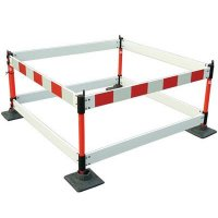Folding Red and White Safety Barrier Kit