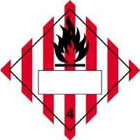 Flammable Solid & 4 - Hazard Warning Diamond Placards