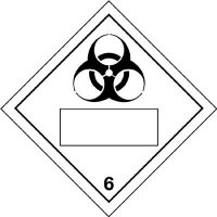 Infectious Substance/6 Hazard Warning Diamond Placards