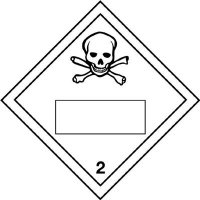 Toxic & 2 - Hazard Warning Diamond Placards