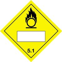Oxidising & 5.1 - Hazard Warning Diamond Placards