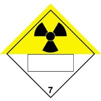 Radioactive & 7 - Hazard Warning Diamond Placards