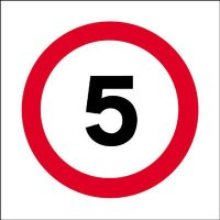 5 MPH Economy Works Traffic Sign