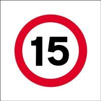 15 MPH Economy Works Traffic Sign