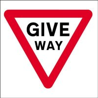 Give Way Economy Works Traffic Sign