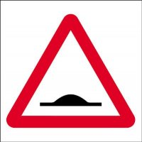 Road Humps Ahead Economy Works Traffic Sign