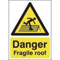 Danger Fragile Roof Signs